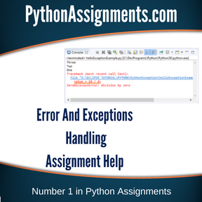 Error And Exceptions Handling Assignment HelpError And Exceptions Handling Assignment Help