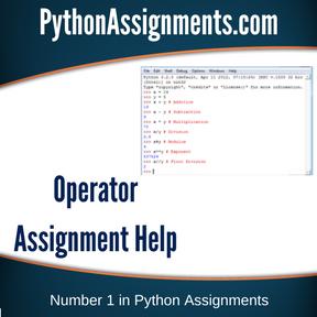 Operator Assignment Help