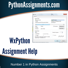 WxPython Assignment Help
